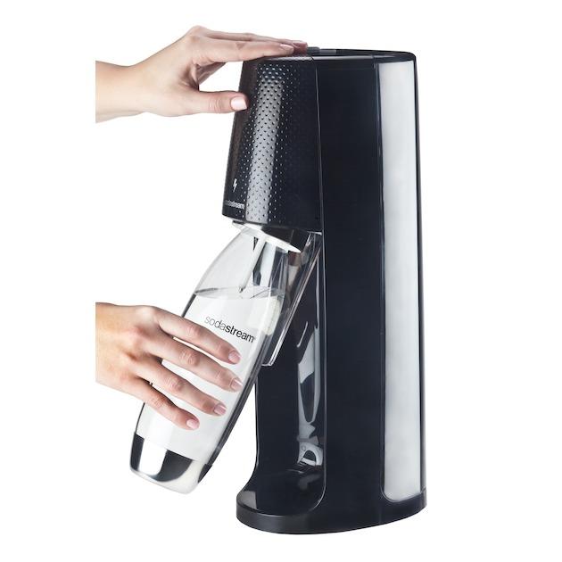 Sodastream Spirit One Touch toestel incl. 1 Fuse fles en 60L CO2 Cilinder zwart