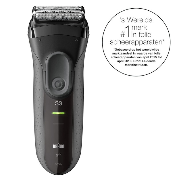Braun Series 3 3000S + pouch giftpack