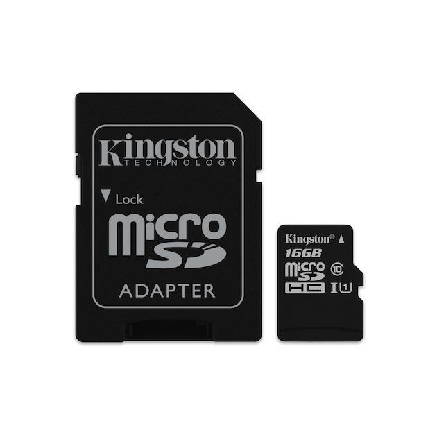 Kingston Canvas Select microSDHC 16GB + SD-adapter