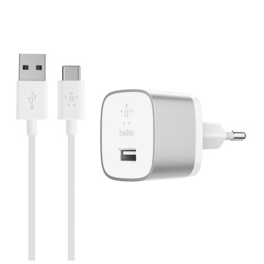 Belkin BOOST UP QuickCharge 3.0 Thuislader + USB-C kabel wit