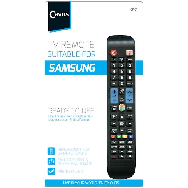 Cavus TV afstandsbediening voor Samsung zwart