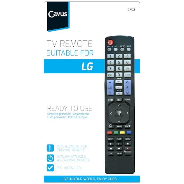 Cavus TV afstandsbediening voor LG zwart