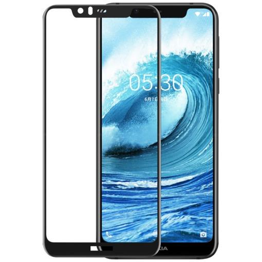 Azuri Tempered Glass flat RINOX ARMOR - voor Nokia 5.1 Plus (2018) zwart