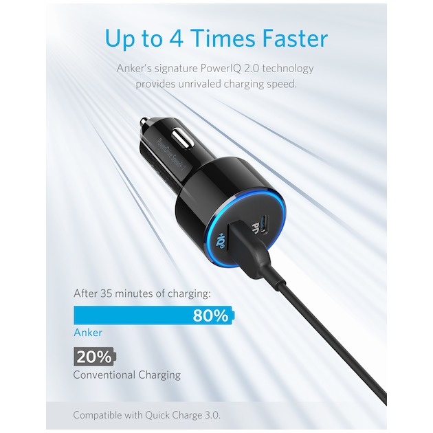 Anker PowerDrive II met Power Delivery