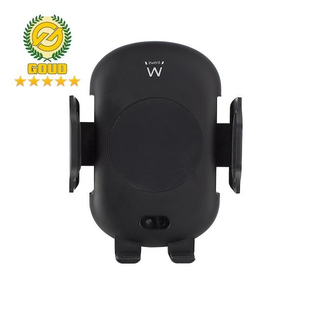 Ewent EW1191 - Smartphonehouder met draadloos laden zwart
