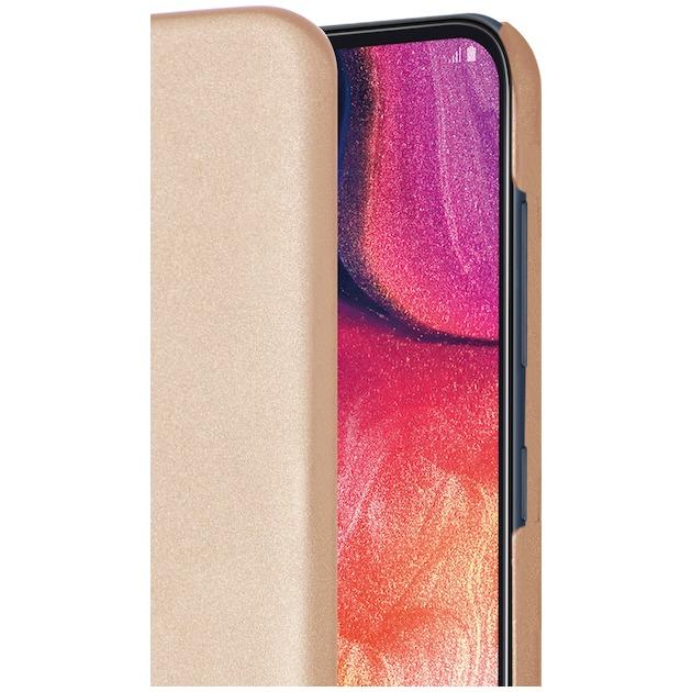 Azuri Back Cover (Metallic) voor Galaxy A50 goud