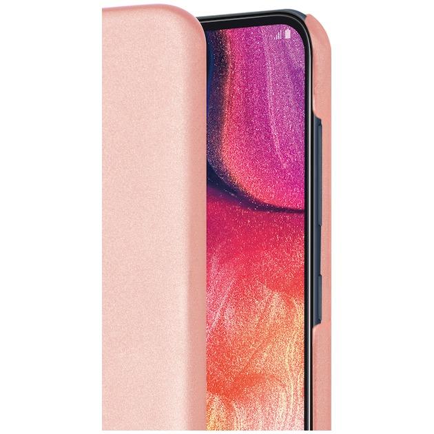 Azuri Back Cover (Metallic) voor Galaxy A50 roze