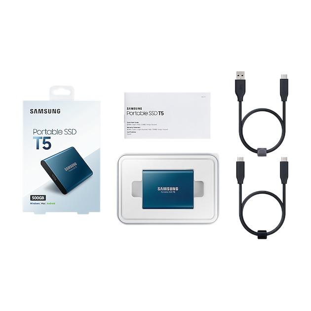Samsung Portable SSD T5 500GB blauw