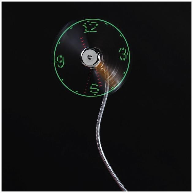 Hama USB-ventilator met tijdweergave Grijs