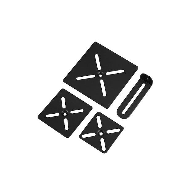 Hama Luidsprekerstandaard Slim 2 stuks zwart