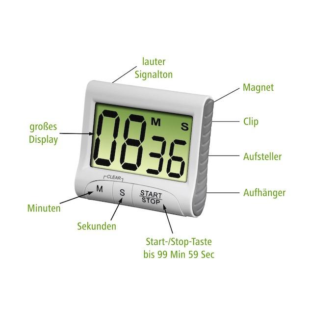 Xavax Keukenwekker Countdown digitaal wit