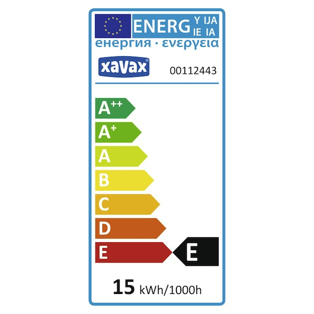Xavax Koelkastlamp 15W E14 transparant