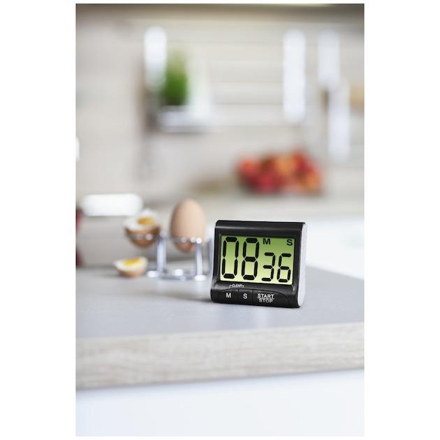 Xavax Keukenwekker Countdown digitaal zwart