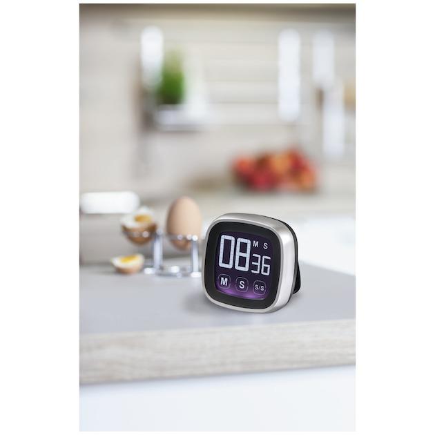 Xavax Keukentimer Touch digitaal zilver/zwart