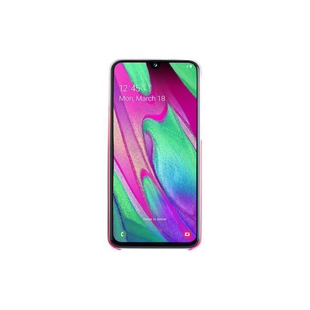 Samsung Gradation Cover voor Galaxy A40 roze