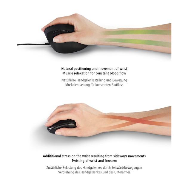 Hama Ergonomische draadloze muis EMW-500 zwart