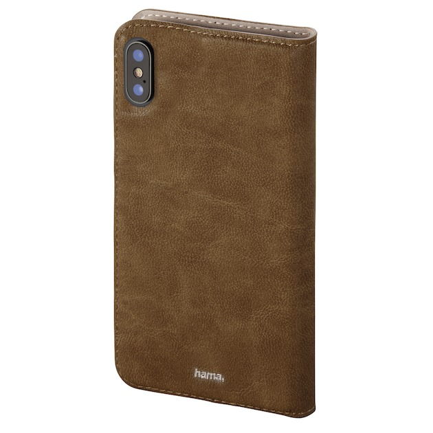 Hama Booklet guard Iphone XS MAX bruin