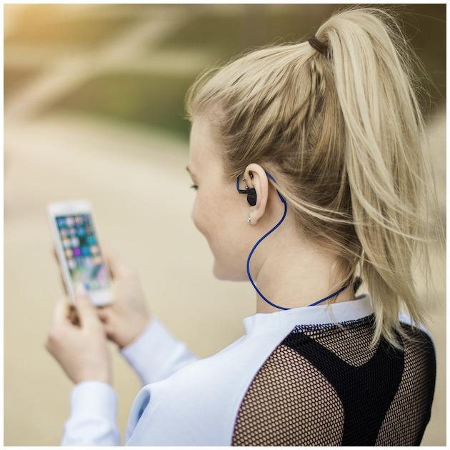 Hama Hoofdtelefoon Clip-on active BT blauw