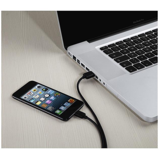 Hama Laad/synchro kabel micro USB 3M zwart