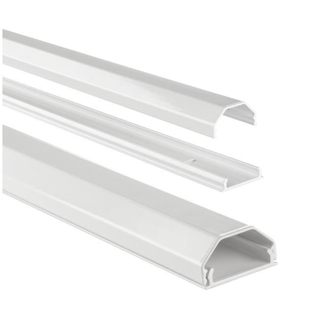 Hama Kabelgoot hoekig aluminium 1.1 meter wit