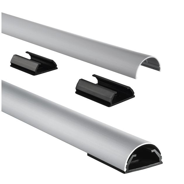 Hama Kabelgoot rond aluminium 1.1 meter  grijs