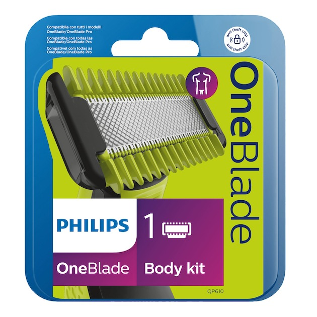 Philips OneBlade vervangbaar scheermesje + lichaamskam