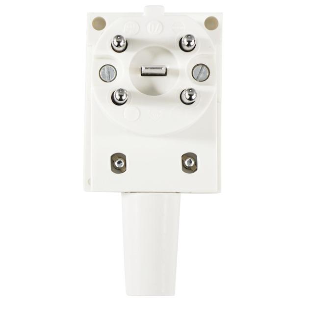 Xavax Perilex stekker, 5-polig, haaks, 400V/16A