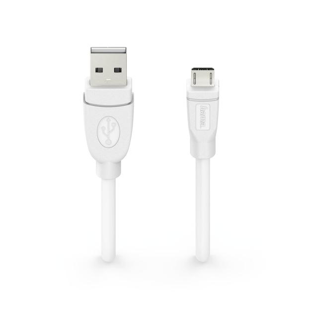 Hama Laadkabel micro-USB afgeschermd 3 meter wit