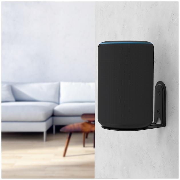 Hama Wandhouder voor Amazon Echo Plus (2e generatie),  zwart