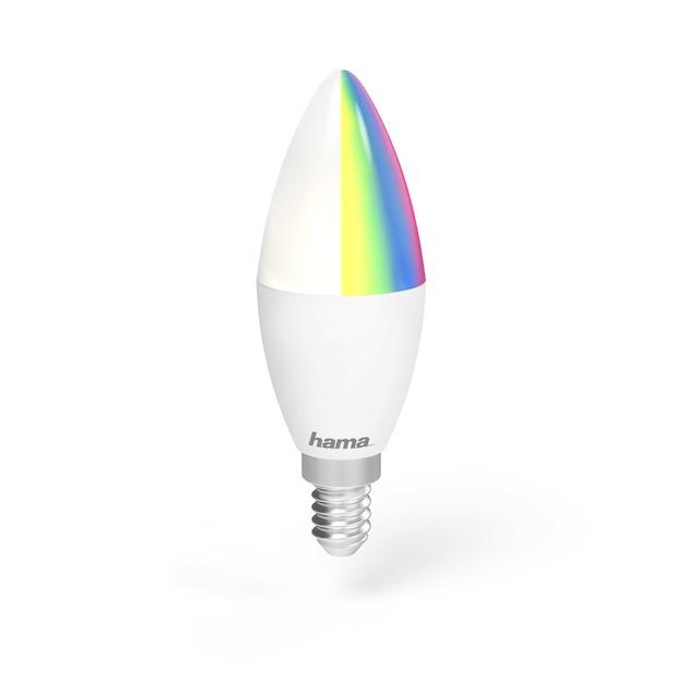 Hama Wifi-ledlamp, E14, 4,5W, RGB, dimbaar