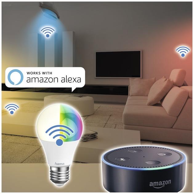 Hama Wifi-ledlamp, E27, 10W, RGB, dimbaar