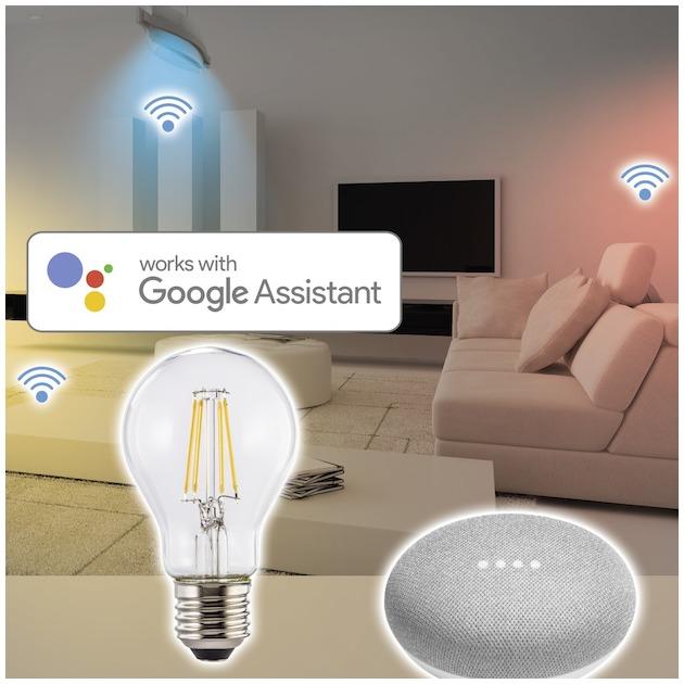 Hama Wifi-ledlamp-gloeidraad, E27, 8W, warm , dimbaar