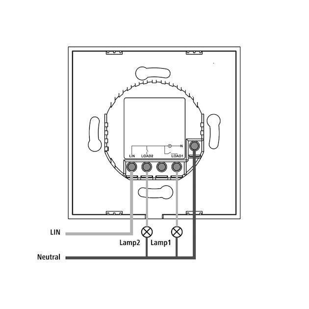 Hama Wifi-touch-wandschakelaar, inbouw,  wit