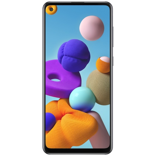 Samsung Galaxy A21s Black incl. KPN 3in1USIM Zwart