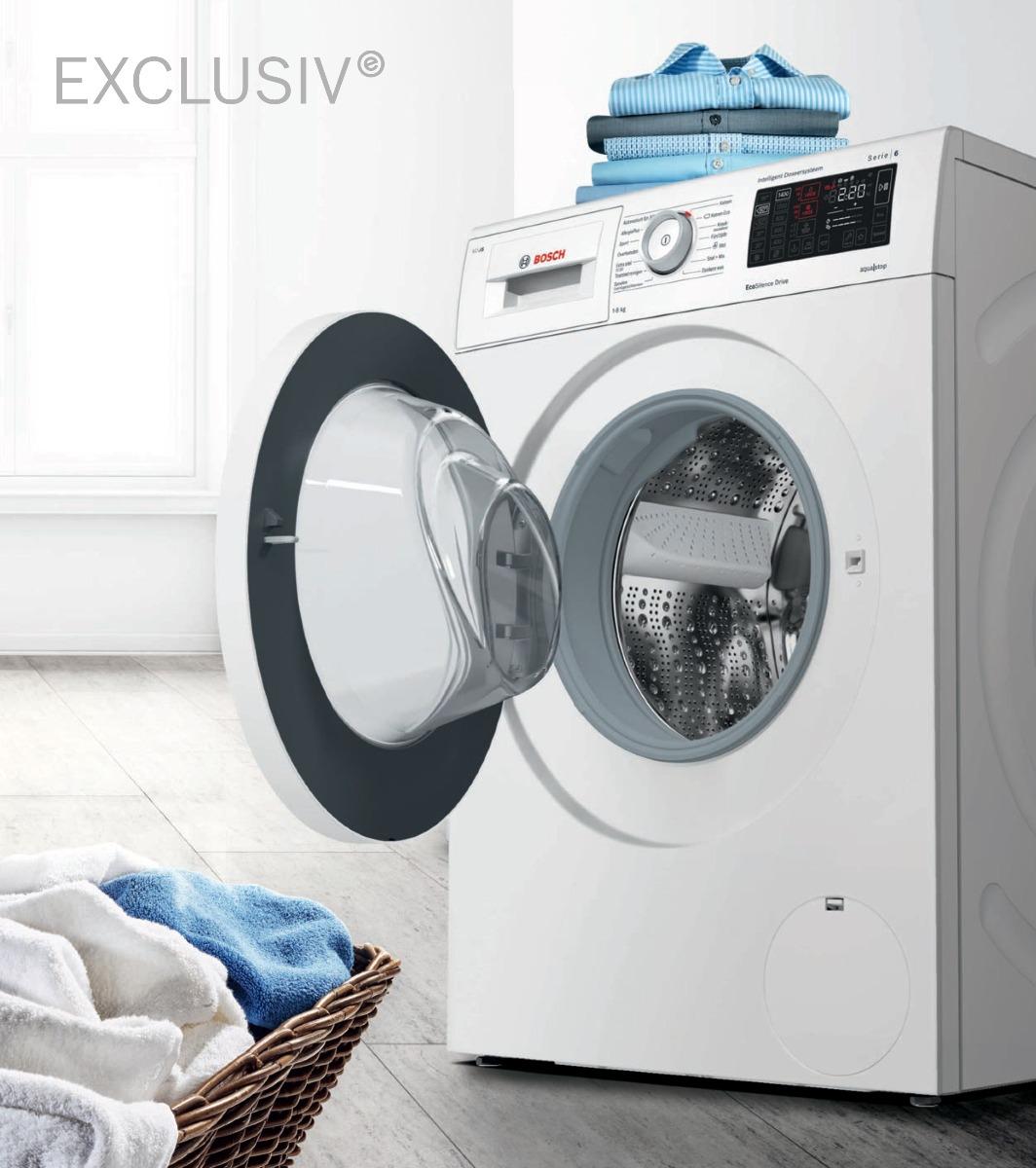 Bosch Exclusiv wasmachines